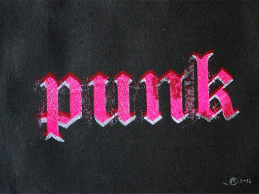 punk fluo blanc